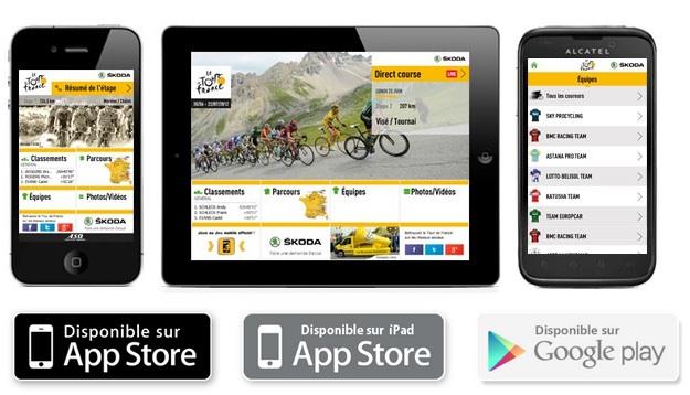 Application mobile du Tour de France 2012