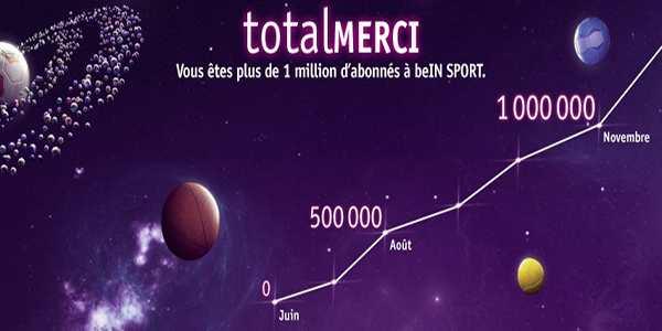 BeIN Sport, 1 million d'abonnés au bout de 6 mois