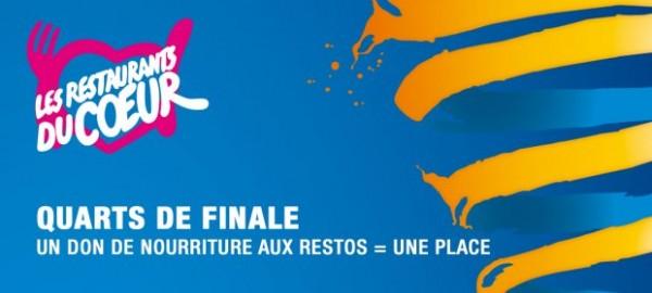 1/4 de finale de la Coupe de la Ligue : 1 don aux Restos du Coeur=1 place offerte!