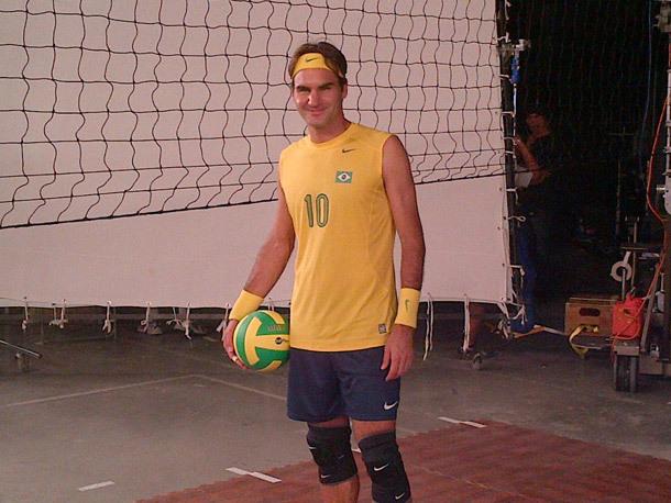 Roger Federer en mode Volleyeur