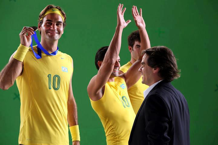 Roger Federer fête sa victoire