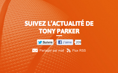 Le site de Tony Parker axé social media