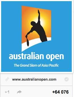 Compte Google+ de l'Open d'Australie