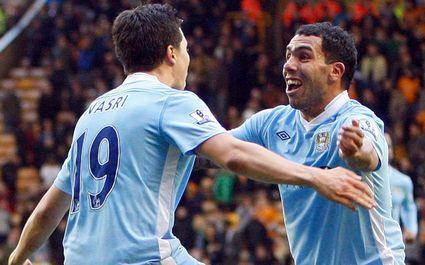 La joie de Nasri et Tevez le jour du sacre de Manchester City