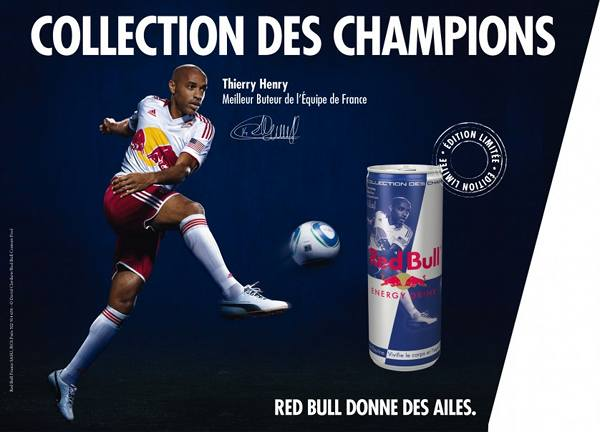 Red Bull : la collection des champions avec Thierry Henry