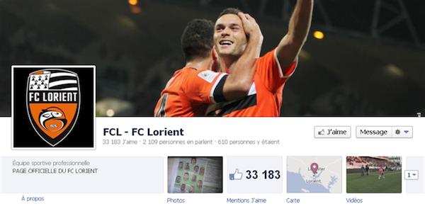 Page Facebook de Lorient