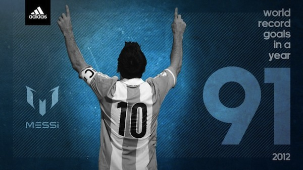 Les 91 buts de Lionel Messi en 1 poster