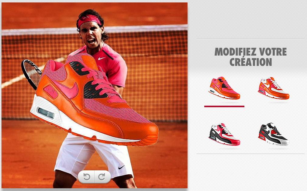 Chaussure Rafael Nadal créée avec Nike PHOTOid