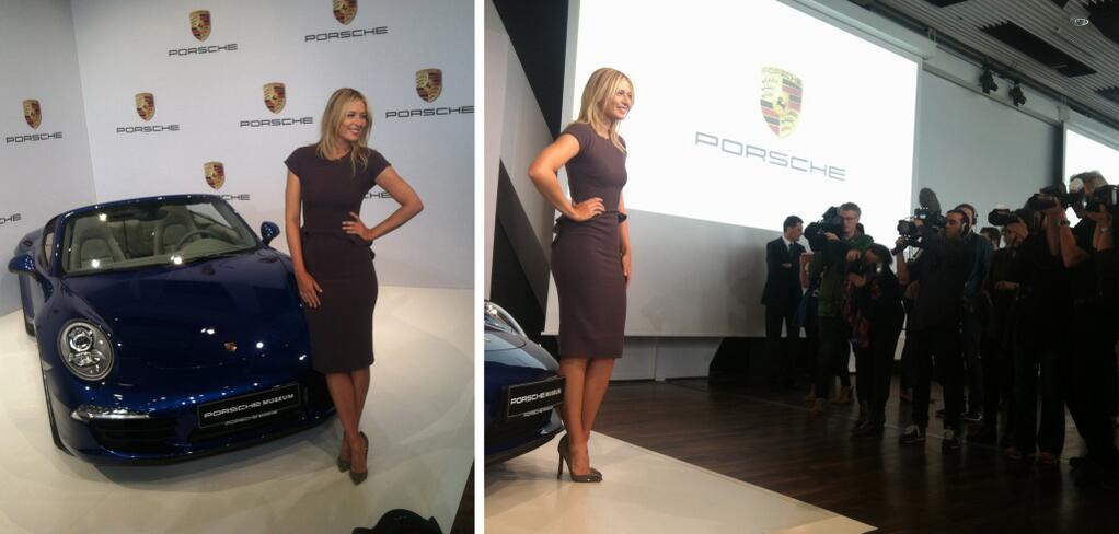 Présentation du partenariat entre Porsche et Maria Sharapova