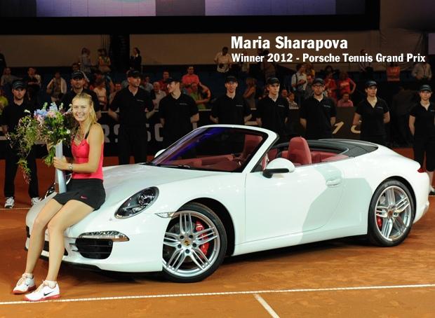 Maria Sharapova gagne une Porsche Carrera GT