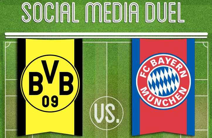 Duel Social Media entre le Bayern et le Borussia