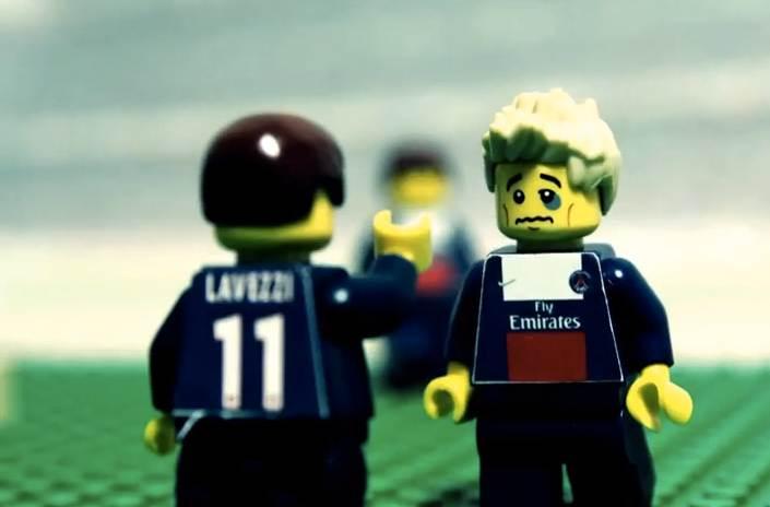 David Beckham, dernier match au PSG (LEGO)