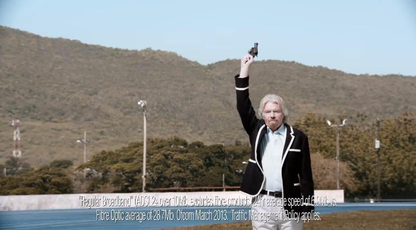 Charles Bronson donne le départ pour Usain Bolt, l'homme le plus rapide d'internet pour Virgin Media