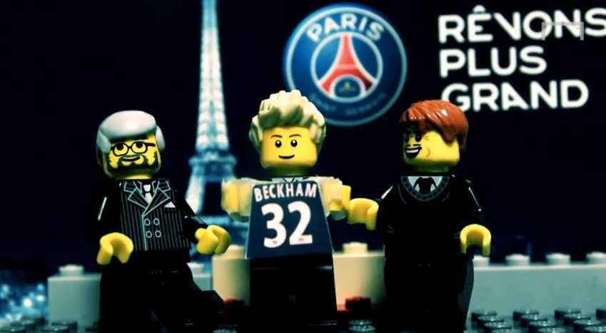 David Beckham transféré au PSG (LEGO)