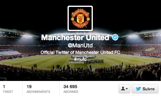Manchester United lance son compte sur Twitter !