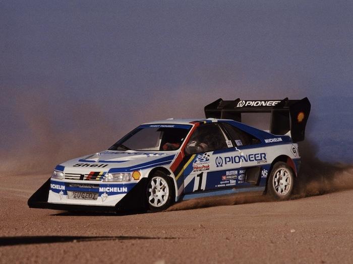 Peugeot 405 Pikes Peak T16 qui a permis à Ari Vatanen de remporter Pikes Peak en 1988