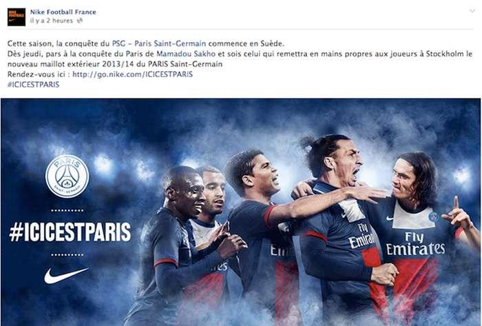 Nike Football France et le PSG organisent une chasse au trésor sur Facebook