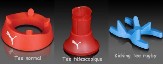 3 types de tee au rugby