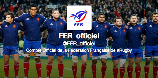 compte officiel de la fédération française de rugby sur Twitter