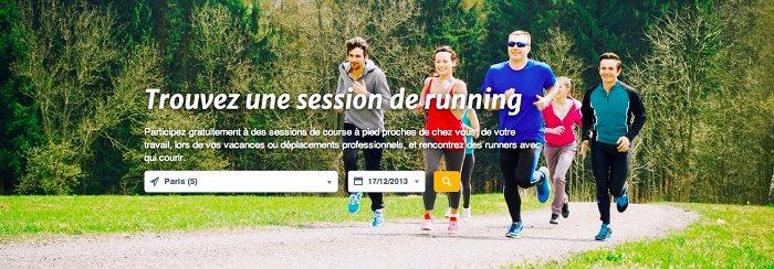 Trouvez une session de running à Paris...