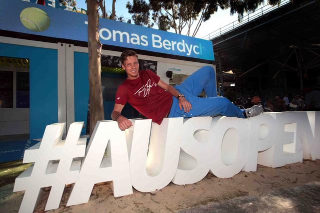 Tomas Berdych tape la pose sur le hashtag 3D #AUSOPEN