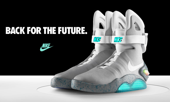 la nike air mag de marty mcfly en route pour le futur. Black Bedroom Furniture Sets. Home Design Ideas