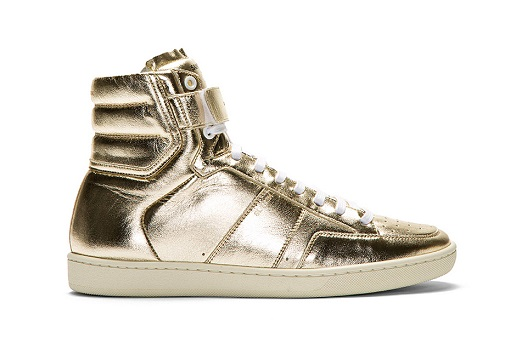 Yves-Saint-Laurent-gold-lame-sneakers