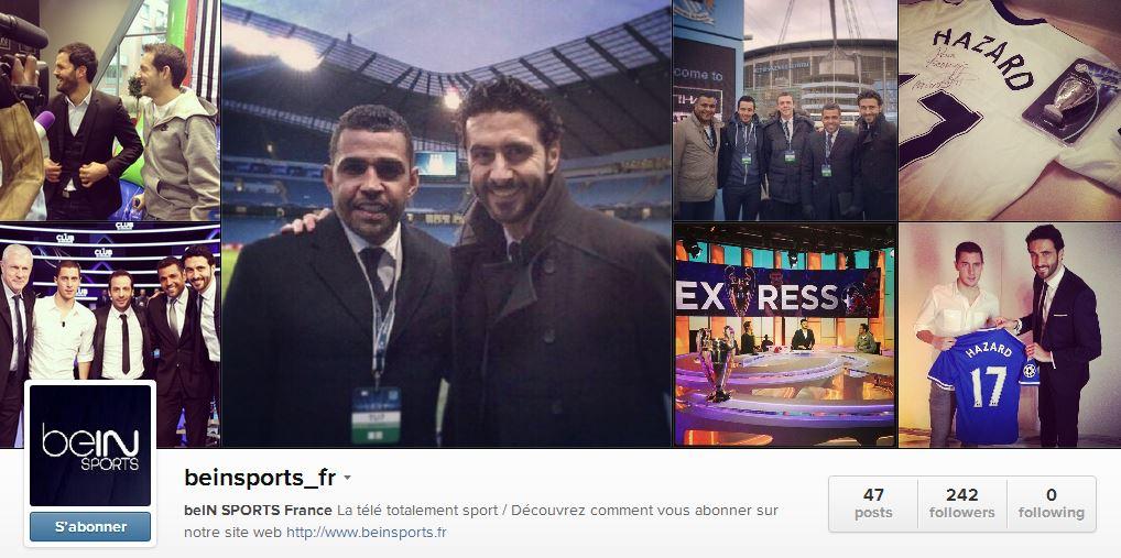 Compte Instagram de beIN Sports lancé le 29 janvier 2014