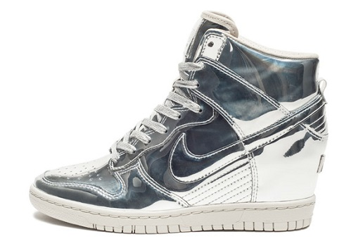 Nike Dunk Sky Hi / liquid silver