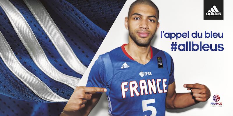 Un nouveau maillot à manches pour l'Equipe de France de basket!