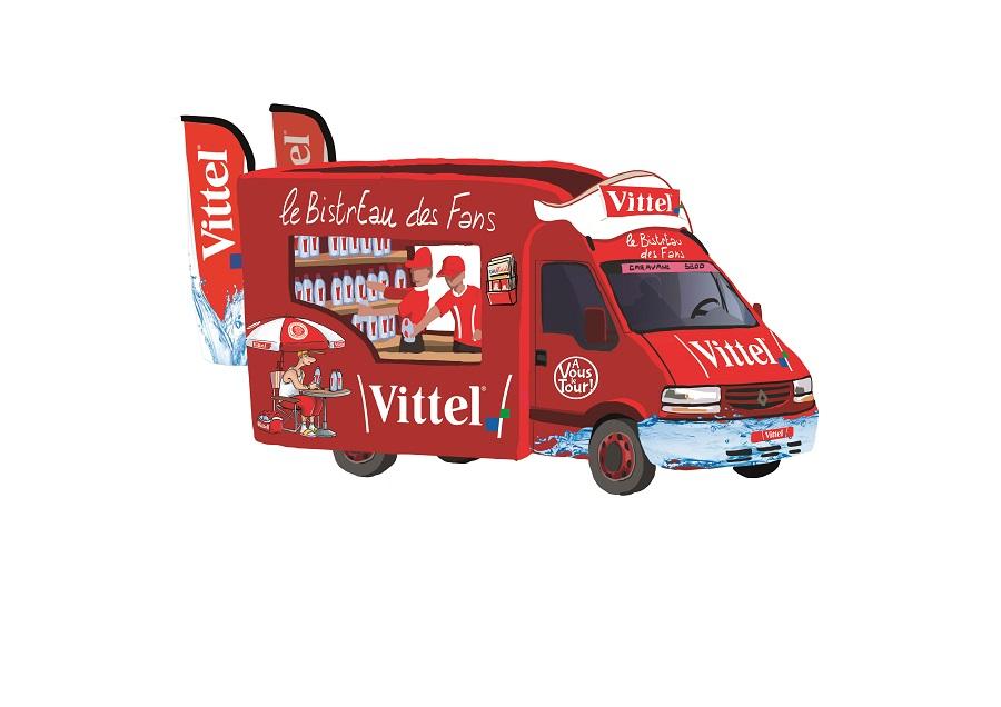 """Caravane Vittel sur le Tour de France: le """"bistreau"""""""