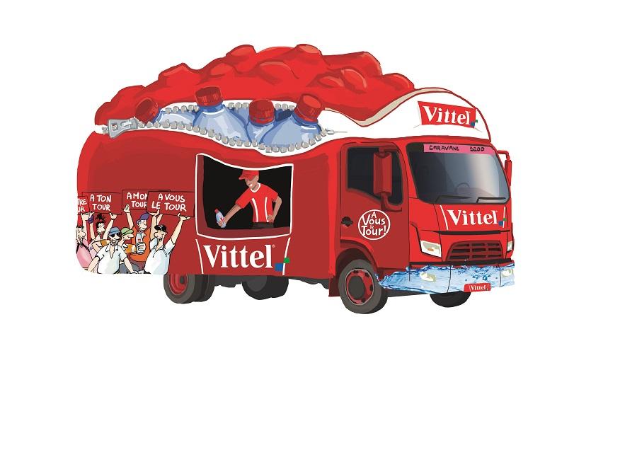 Caravane Vittel sur le Tour de France: le glacier