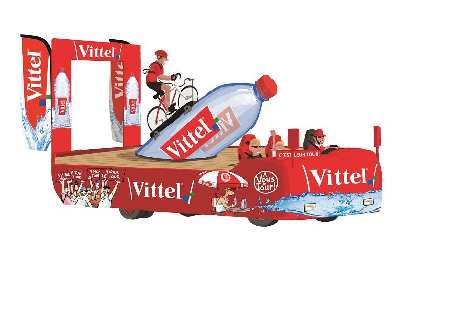 Caravane Vittel sur le Tour de France: deuxième char animé
