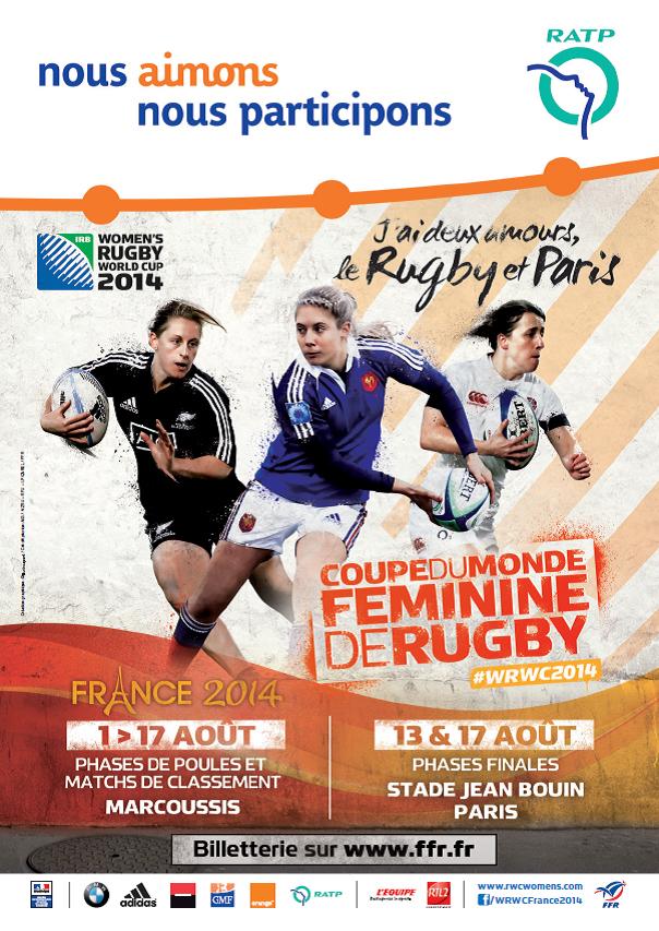 Avec la ratp vivez facilement la coupe du monde f minine de rugby - Coupe du monde feminine 2014 ...