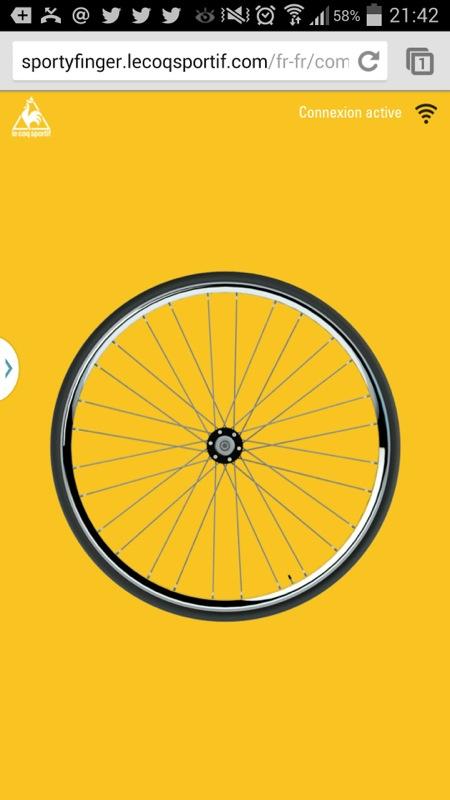 The Sporty Finger Game by Le Coq Sportif: Prêts à faire tourner la roue avec votre doigt?