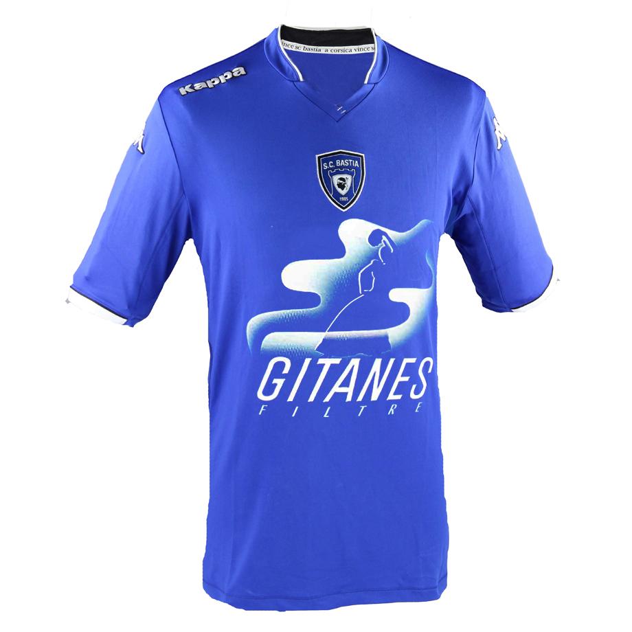 Maillot de Bastia sponsorisé par Gitanes