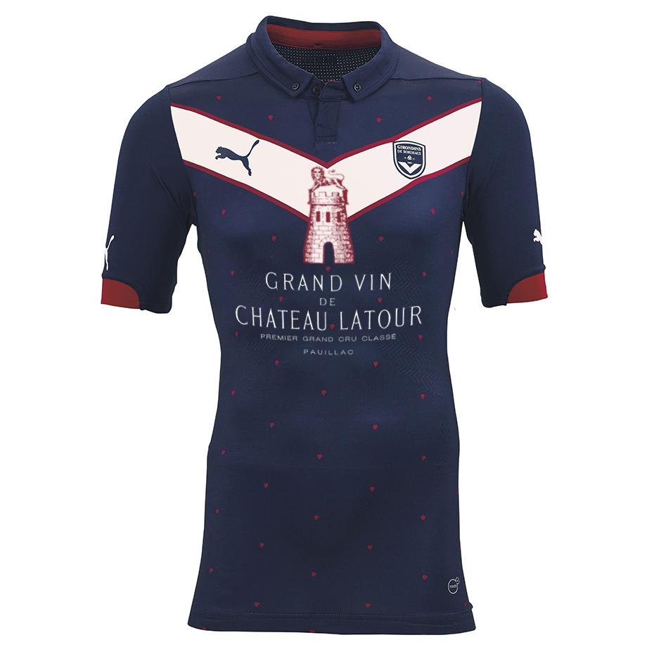 Maillot de Bordeaux sponsorisé par Chateau Latour