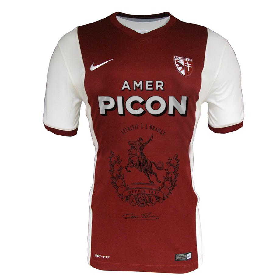 Maillot du FC Metz sponsorisé par Amer Picon