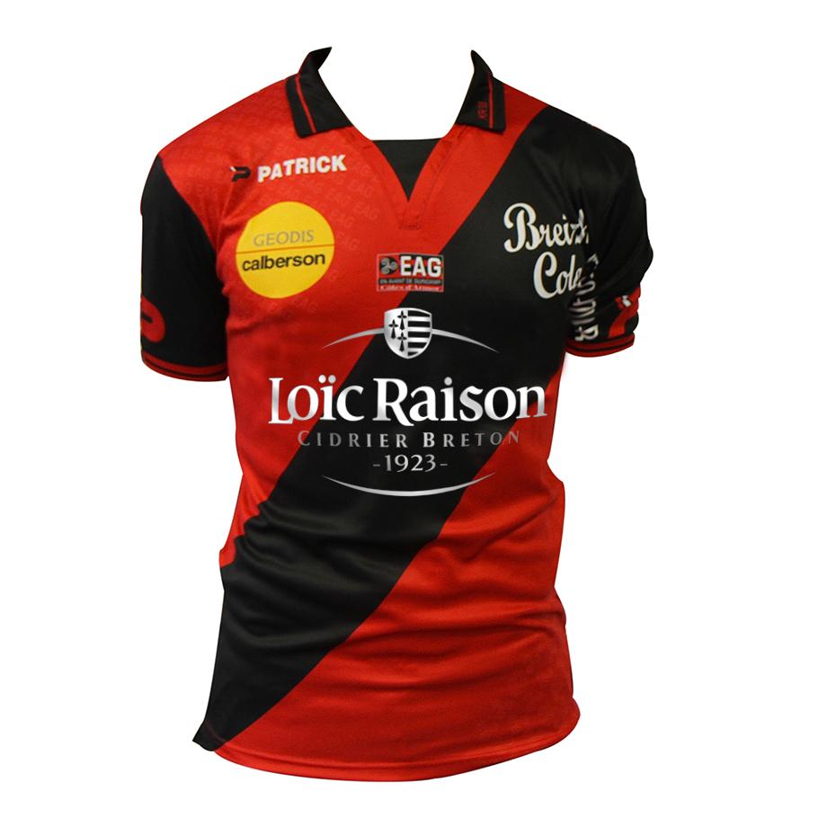 Maillot de l'En Avant de Guingamp sponsorisé par Loic Raison