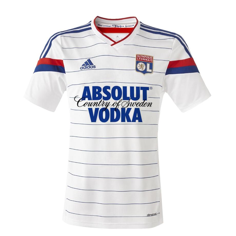 Maillot de Lyon sponsorisé par Absolut Vodka
