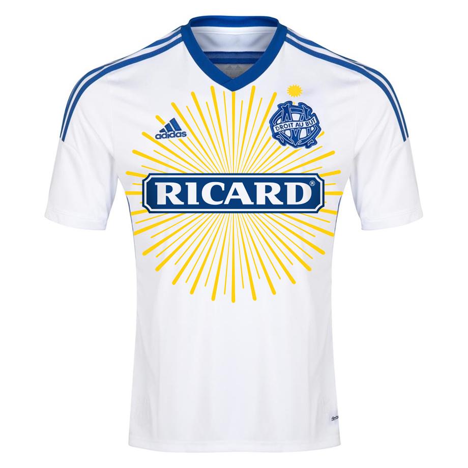 Maillot de Marseille sponsorisé par Ricard
