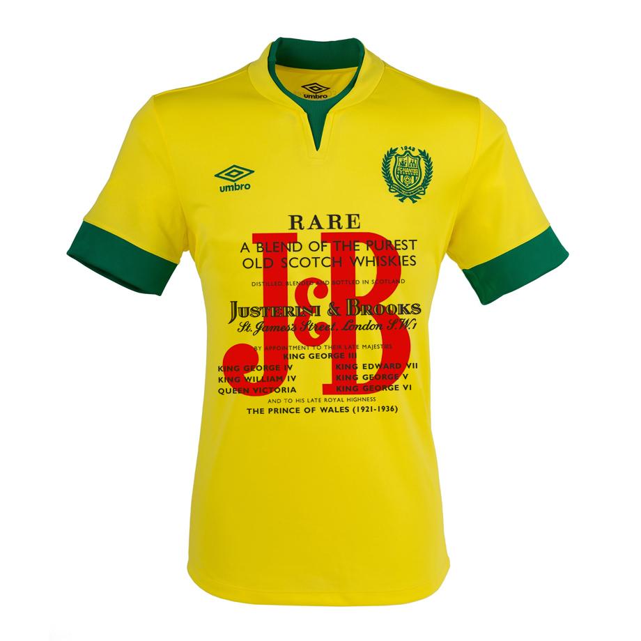 Maillot du FC Nantes sponsorisé par J&B
