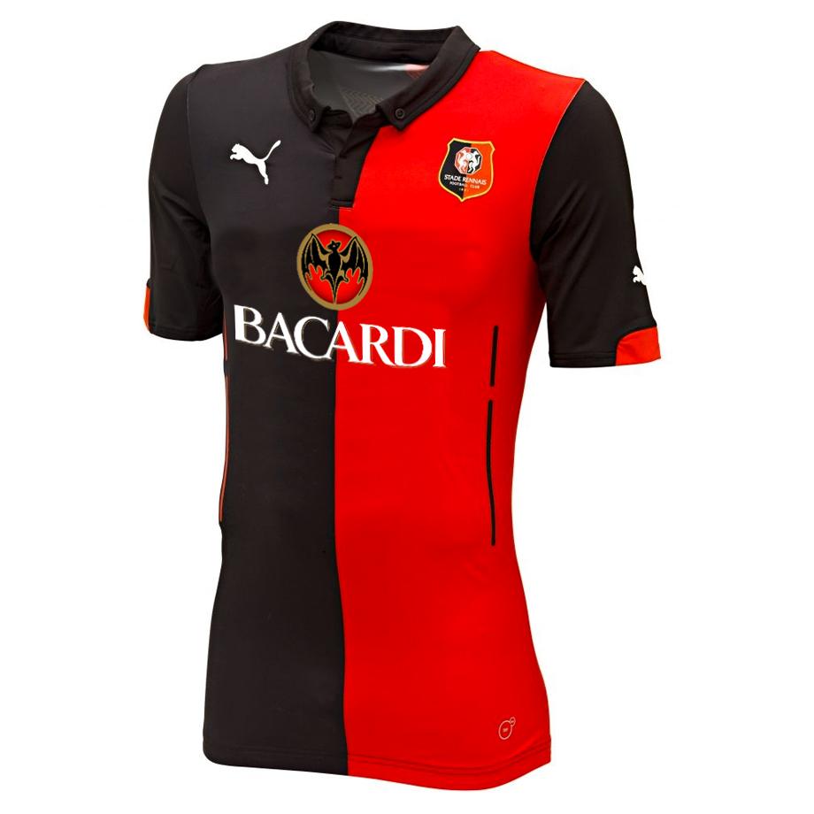 Maillot de Rennes sponsorisé par Bacardi