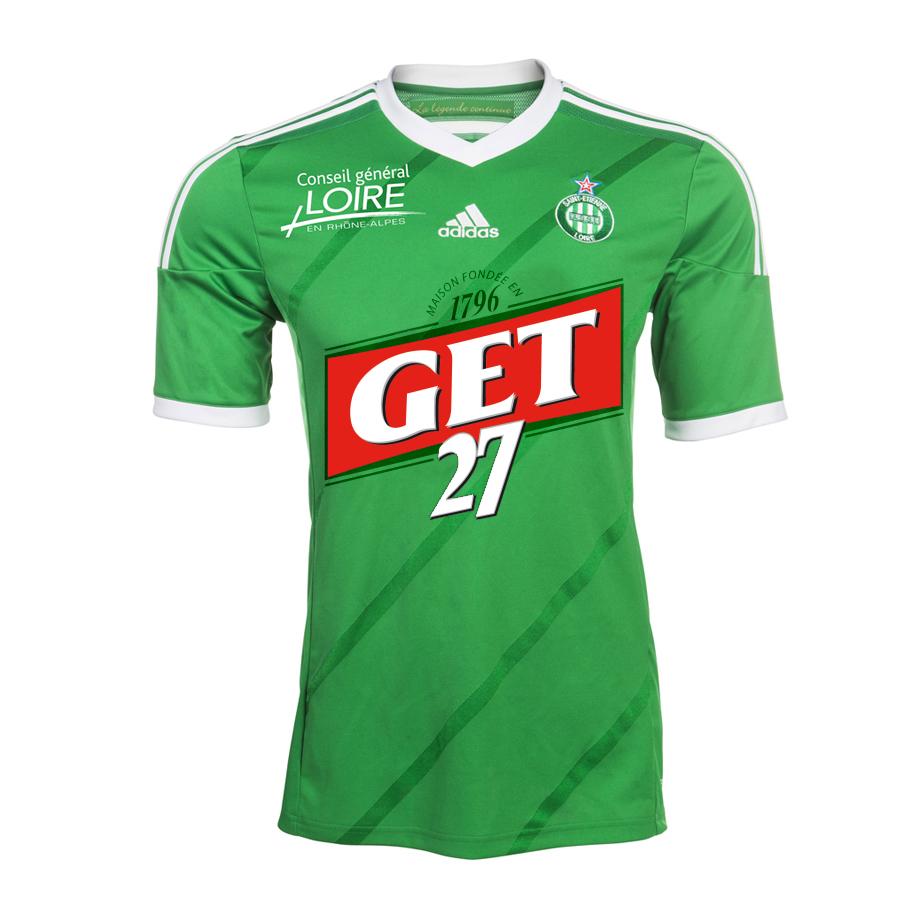 Maillot de Saint-Etienne sponsorisé par Get 27