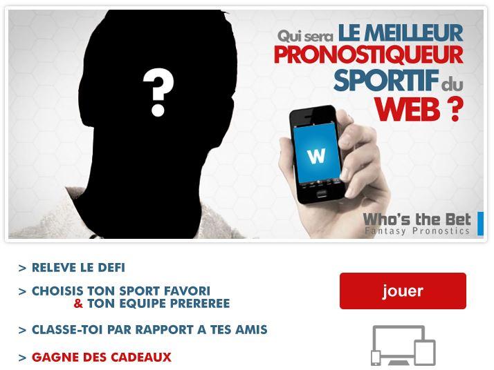Who's the Bet, application Facebook de pronostics sportifs