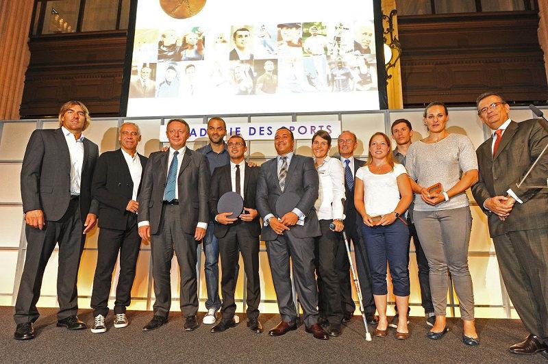 Sportifs récompensés par l'Académie des Sports et qui ont pu être présent à la cérémonie