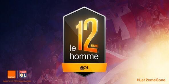 Badge Orange sur le maillot de l'Olympique Lyonnais