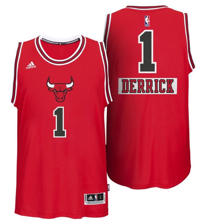 Maillot NBA spécial Noël 2014 Big Logo - Chicago Bulls - Derrick Rose