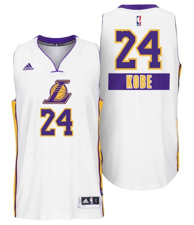 Maillot NBA spécial Noël 2014 Big Logo - Los Angeles Lakers - Kobe Bryant