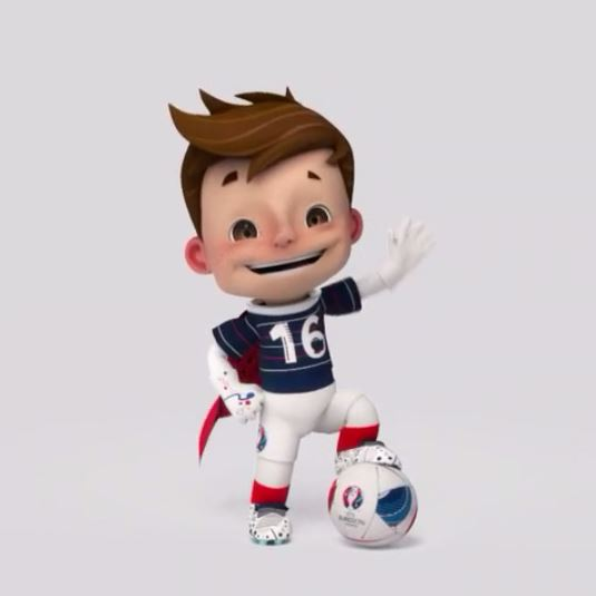 La mascotte de l'Euro 2016